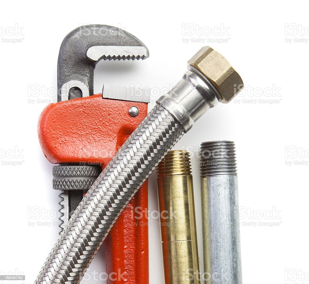 Plumber's Tools stock photo