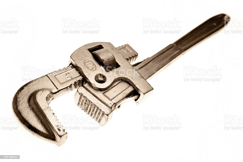 Plumbers wrench royalty-free stock photo
