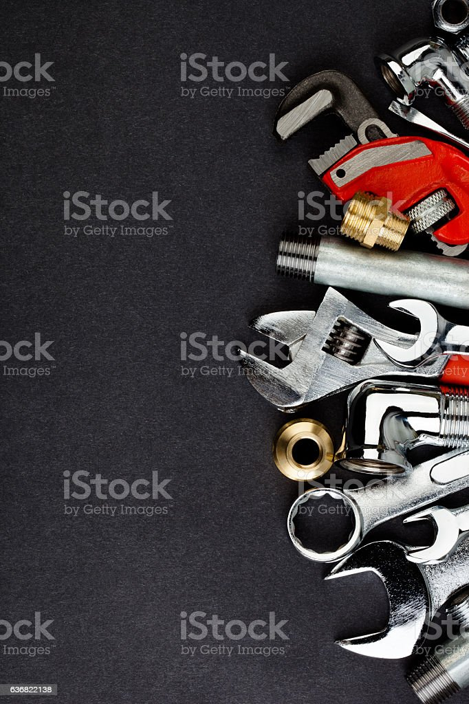 Plumbing accessories. stock photo