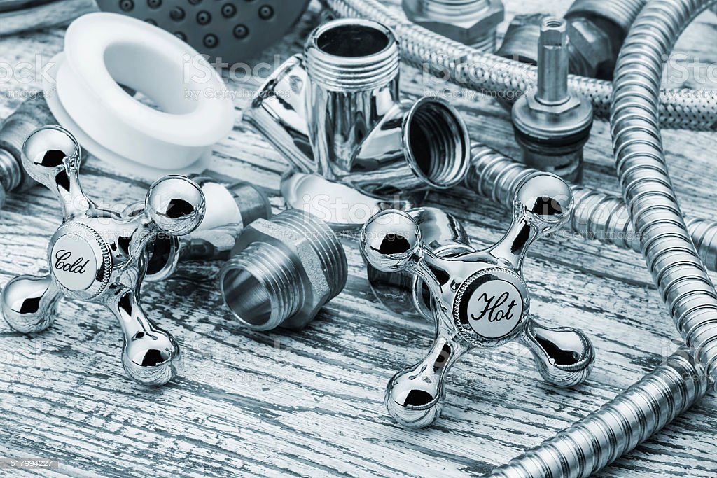 plumbing and accessories stock photo