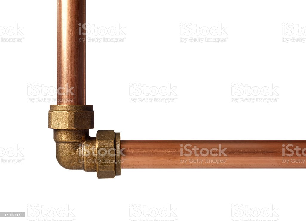 Plumbing compression  joint stock photo