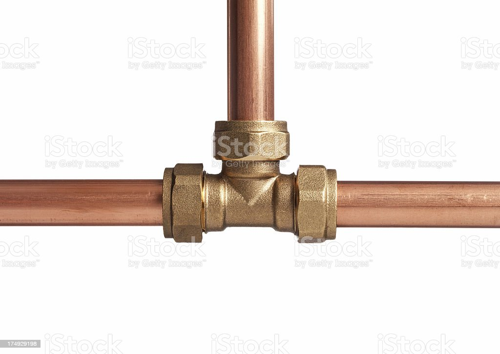 Plumbing Compression T Joint Royalty Free Stock Photo