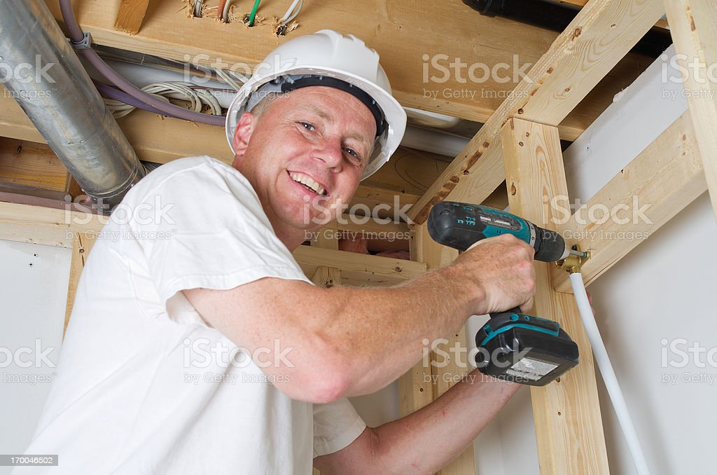 Plumbing Construction royalty-free stock photo