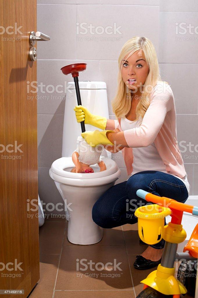 plumbing emergency stock photo