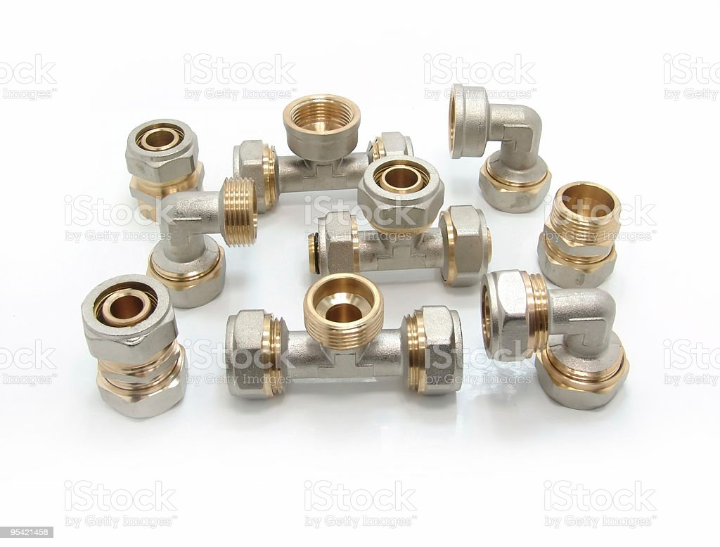 Plumbing Fittings royalty-free stock photo