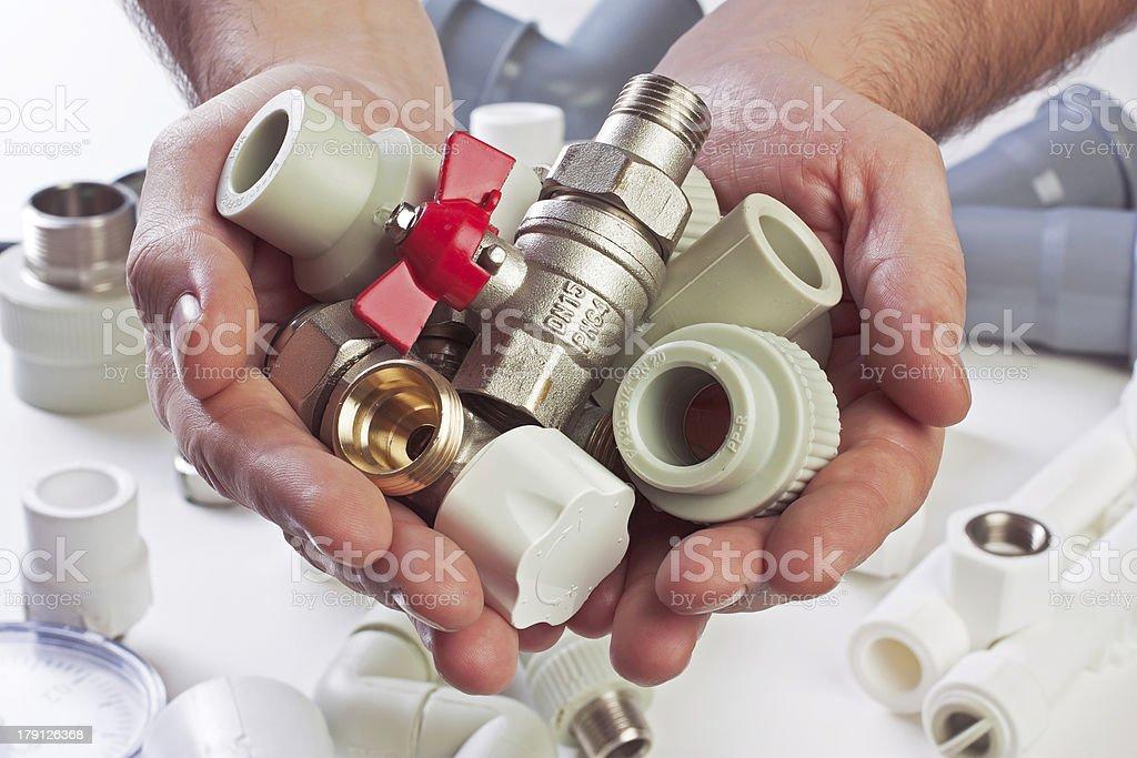 Plumbing fixtures royalty-free stock photo