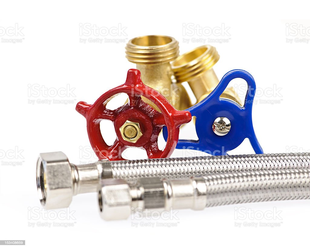 Plumbing parts royalty-free stock photo