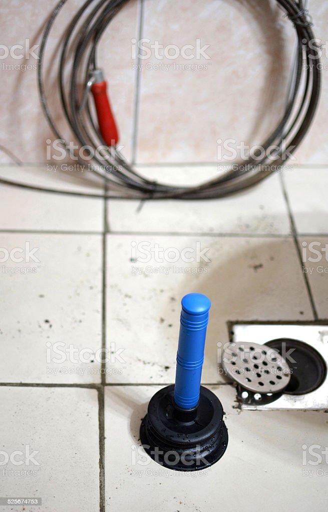 Plumbing problem stock photo