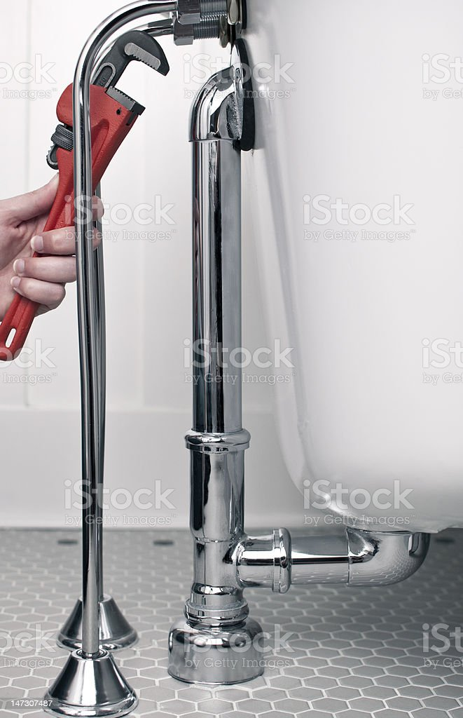 Plumbing Repairs royalty-free stock photo