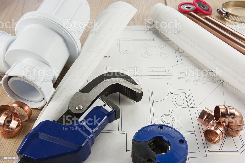 Plumbing Services royalty-free stock photo