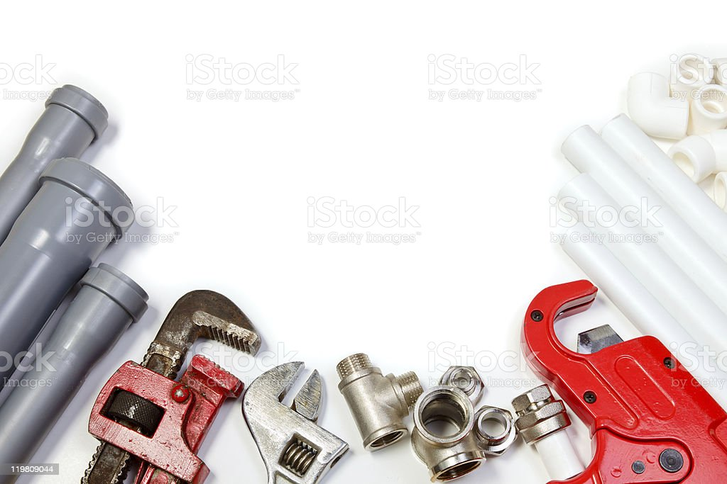 Plumbing supplies stock photo