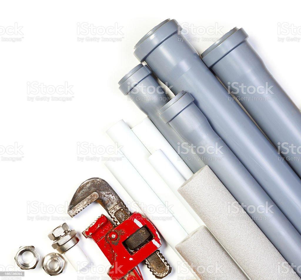 Plumbing supplies royalty-free stock photo