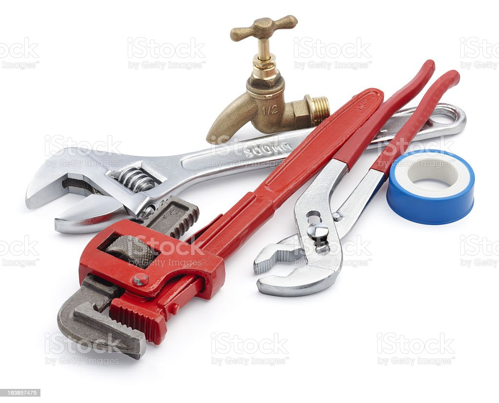 plumbing tools stock photo
