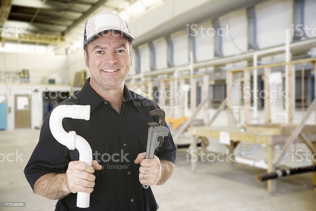 Plumbing Trade School royalty-free stock photo