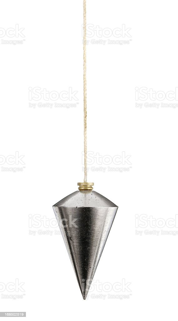 Plumbline And String Isolated On White stock photo