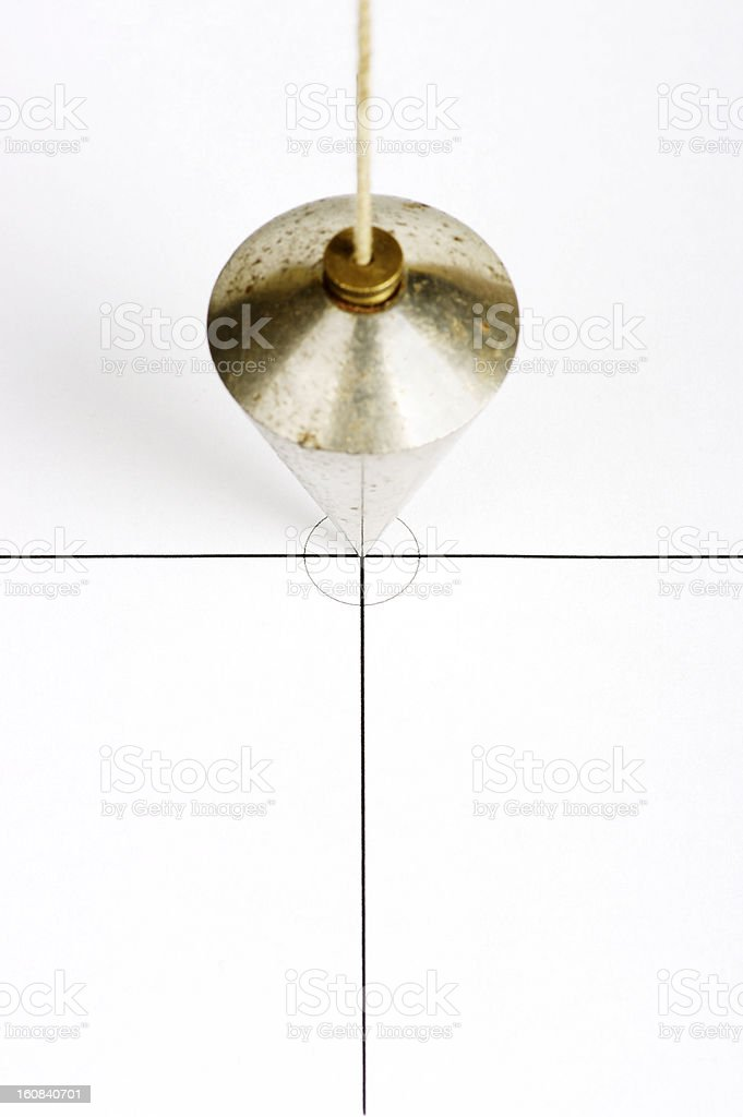 Plumbline Positioned On Centre Of Cross Graphic royalty-free stock photo