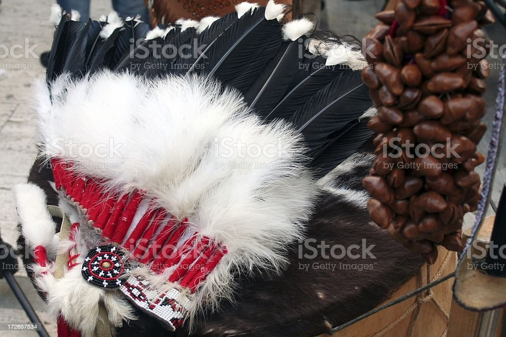 Plumed indian heat stock photo