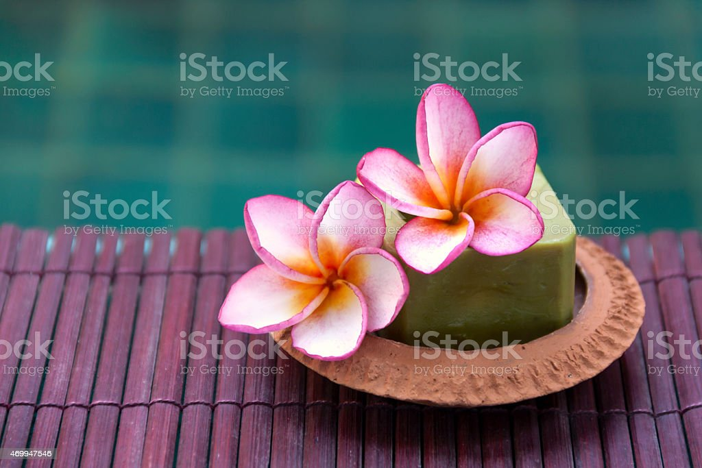 Plumeria at swimming pool royalty-free stock photo