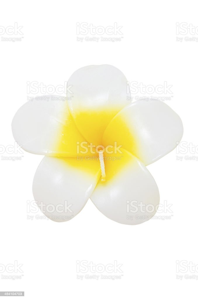 Plumeria flower candles. royalty-free stock photo