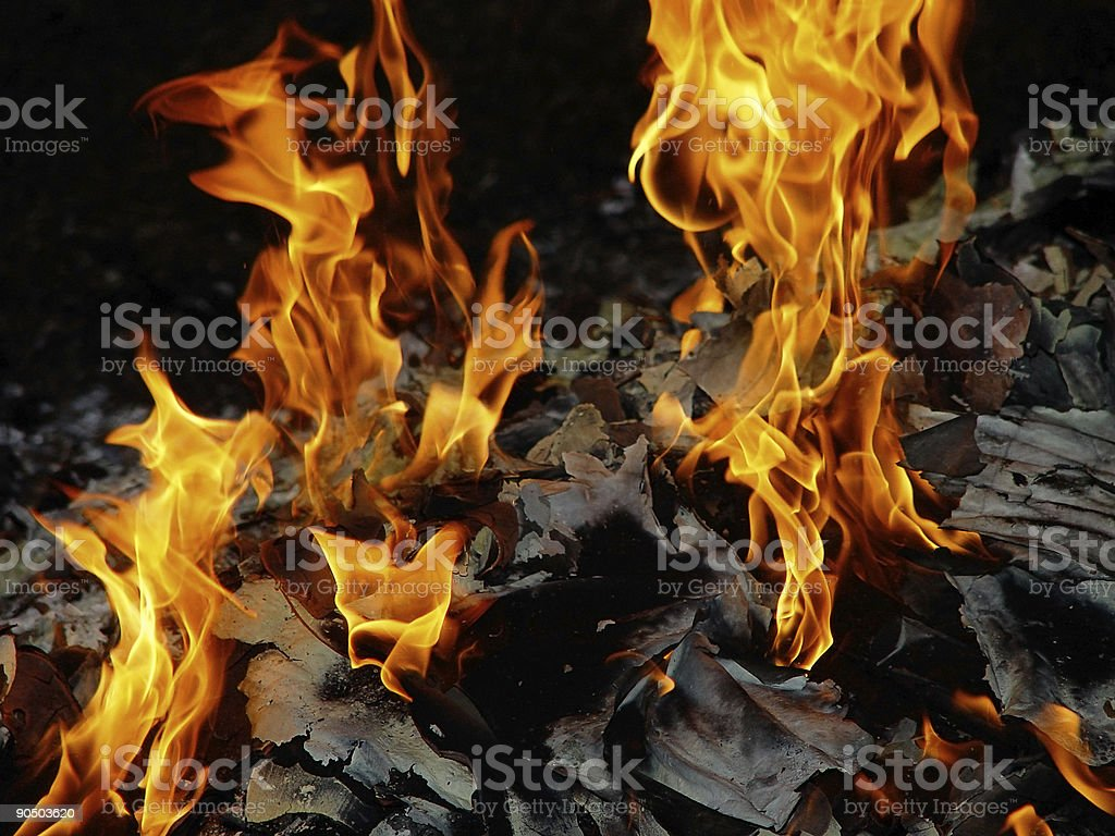 plumes of fire stock photo