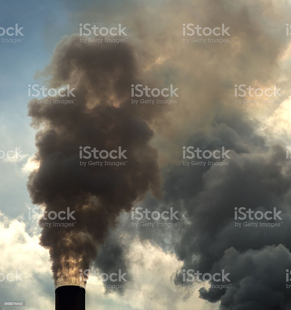 Plumes of Industry stock photo