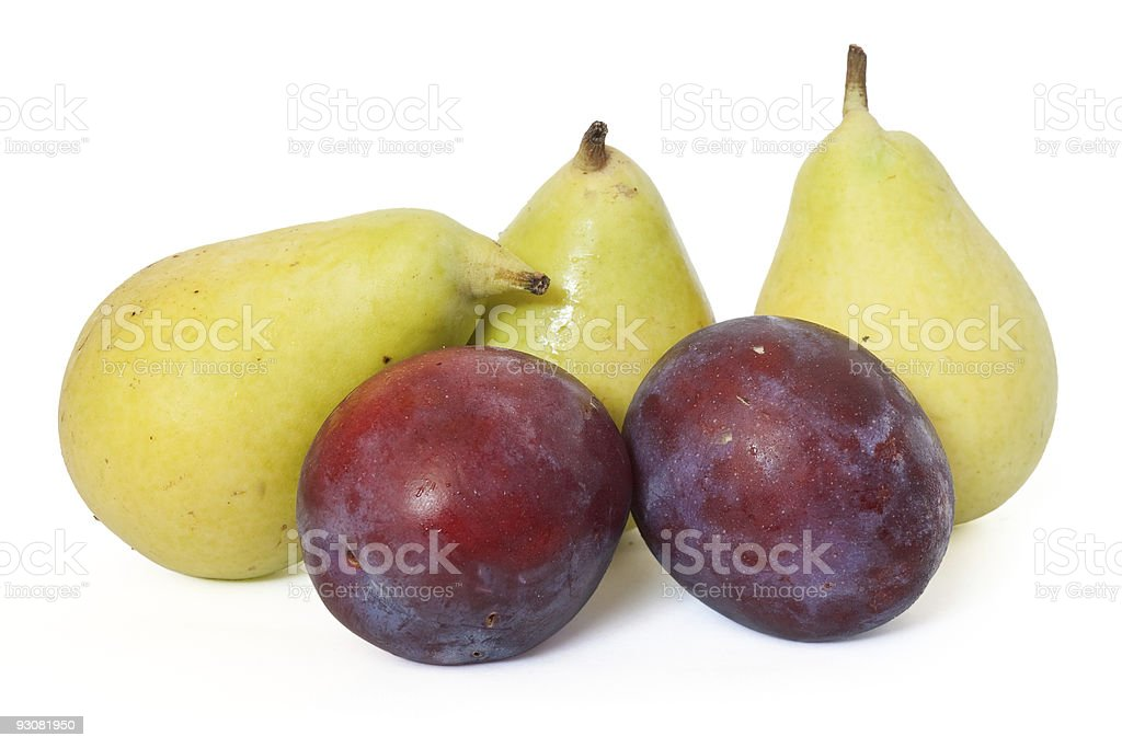 plums and pears royalty-free stock photo