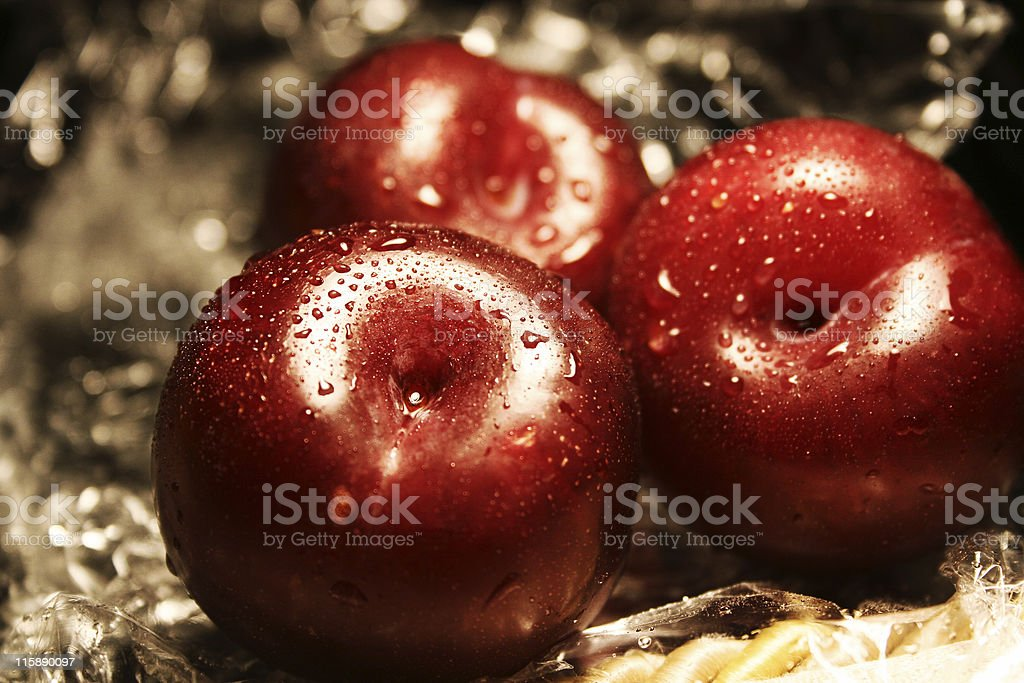 plums fruits royalty-free stock photo