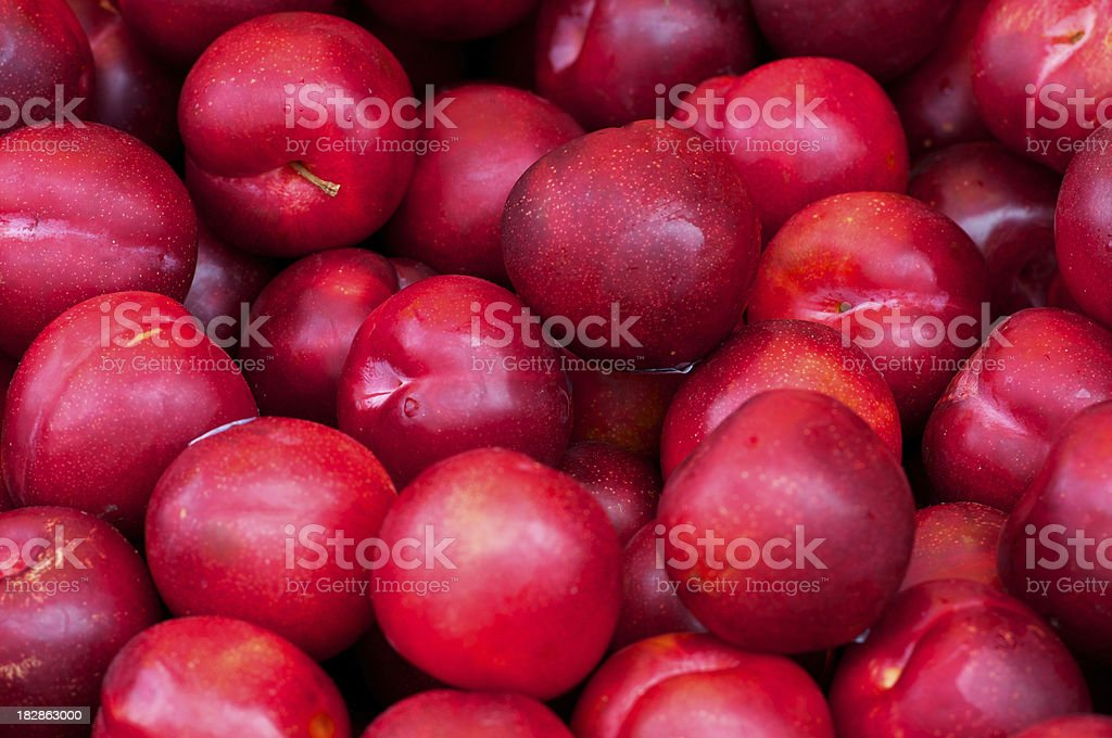 Plums in Farmers Market royalty-free stock photo