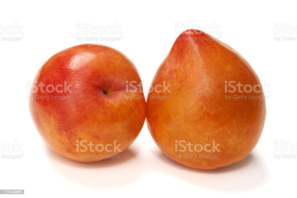 Plums Isolated on White royalty-free stock photo