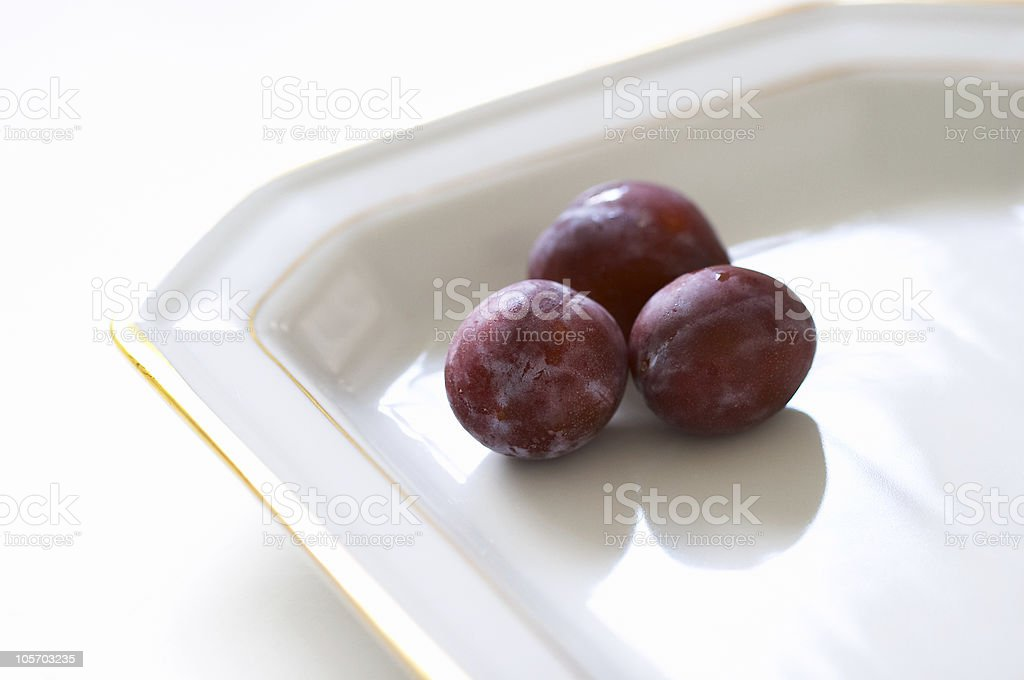 Plums (fruits for dessert) royalty-free stock photo
