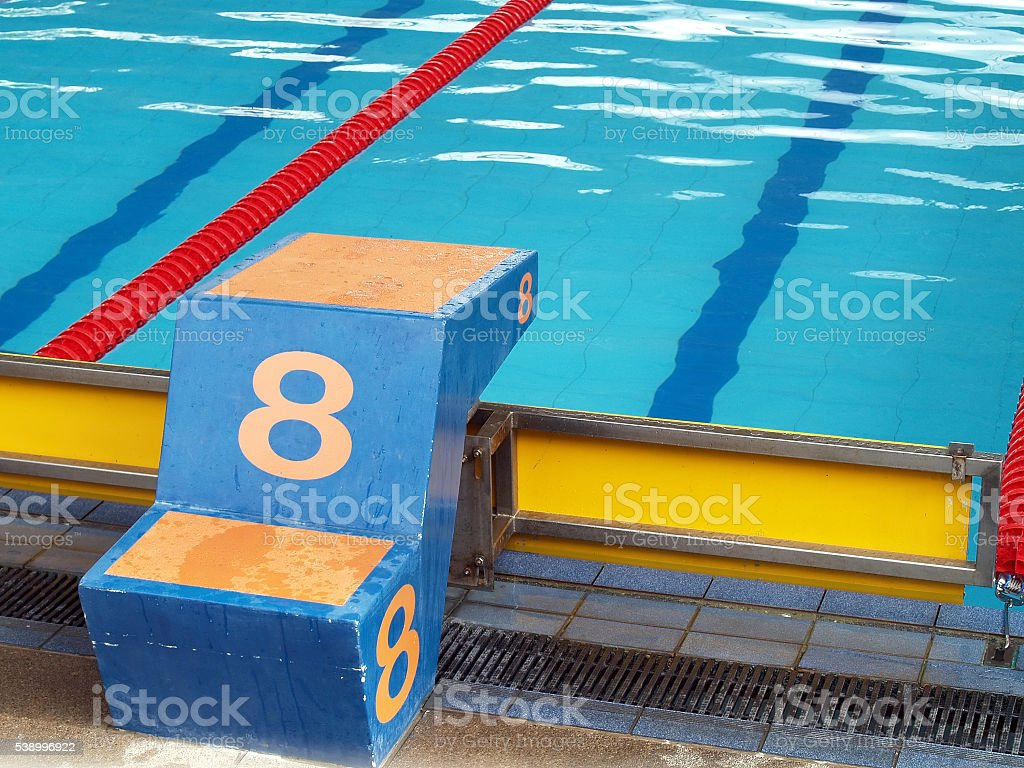 Plunge pool number 8 stock photo