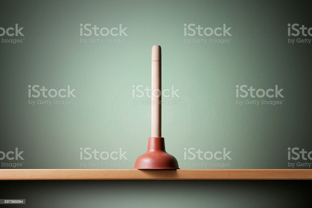 Plunger stock photo