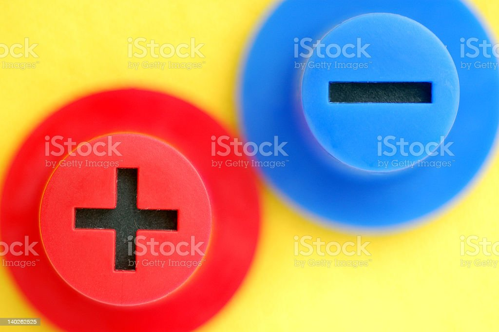 plus and minus stock photo