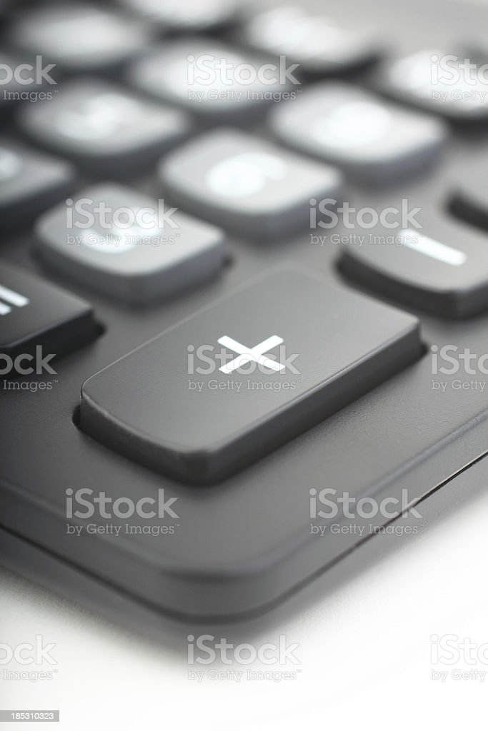 Plus sign on black calculator stock photo