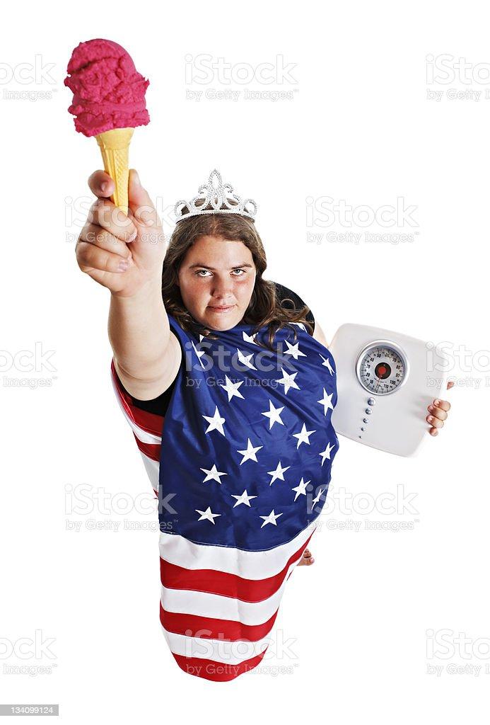Plus size Lady Liberty royalty-free stock photo