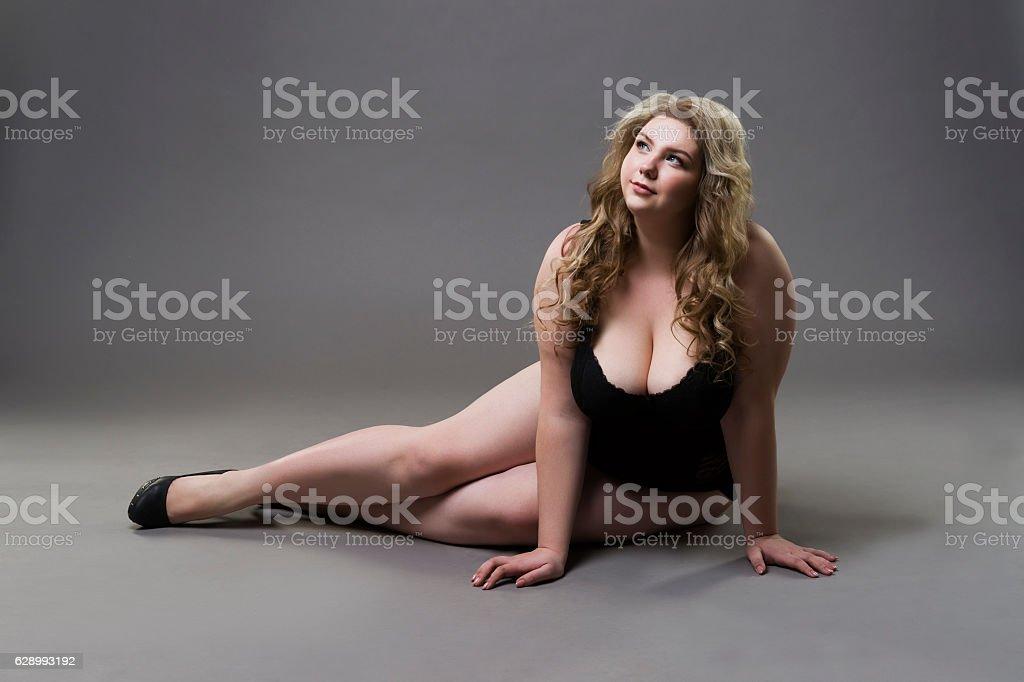 Plus size model stock photo