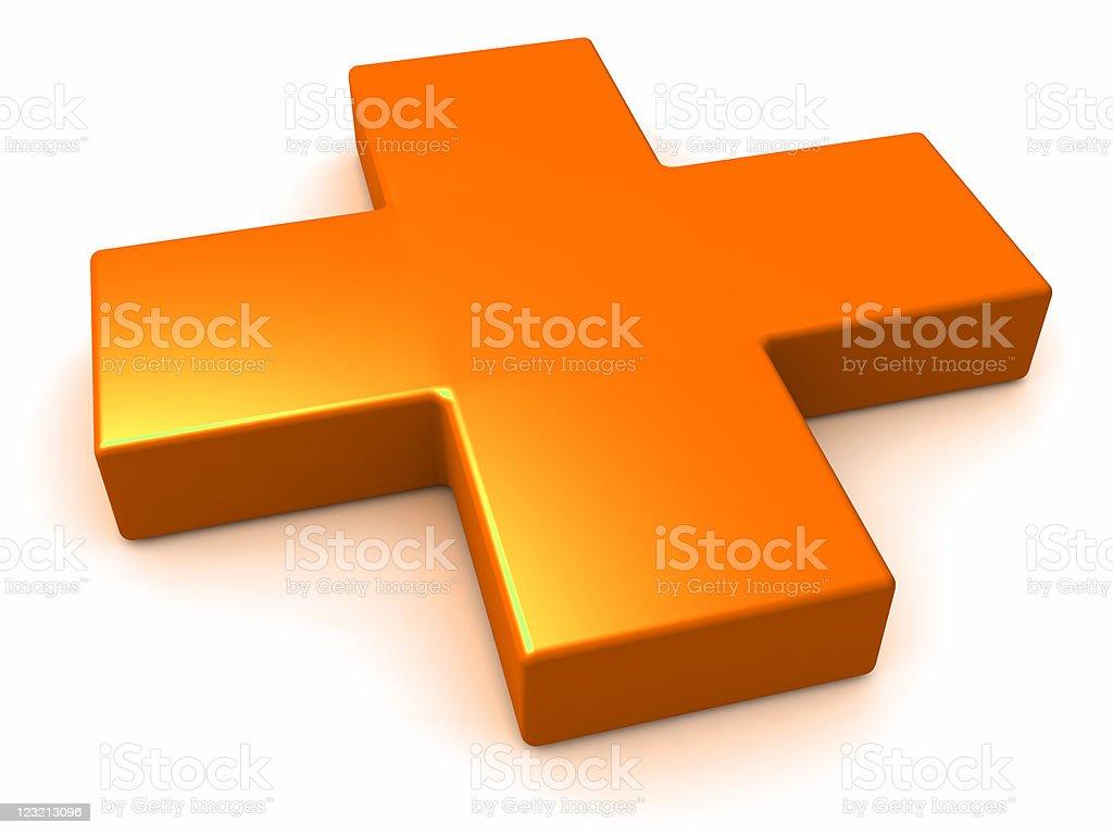 Plus Symbol stock photo