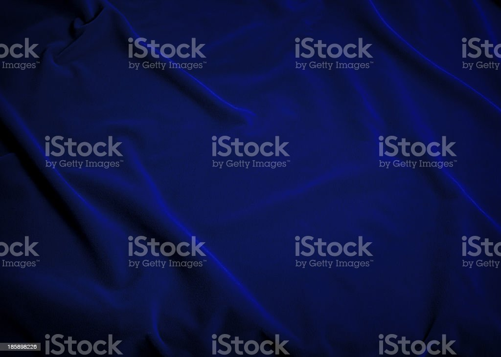 Plush Blue Velvet Fabric stock photo