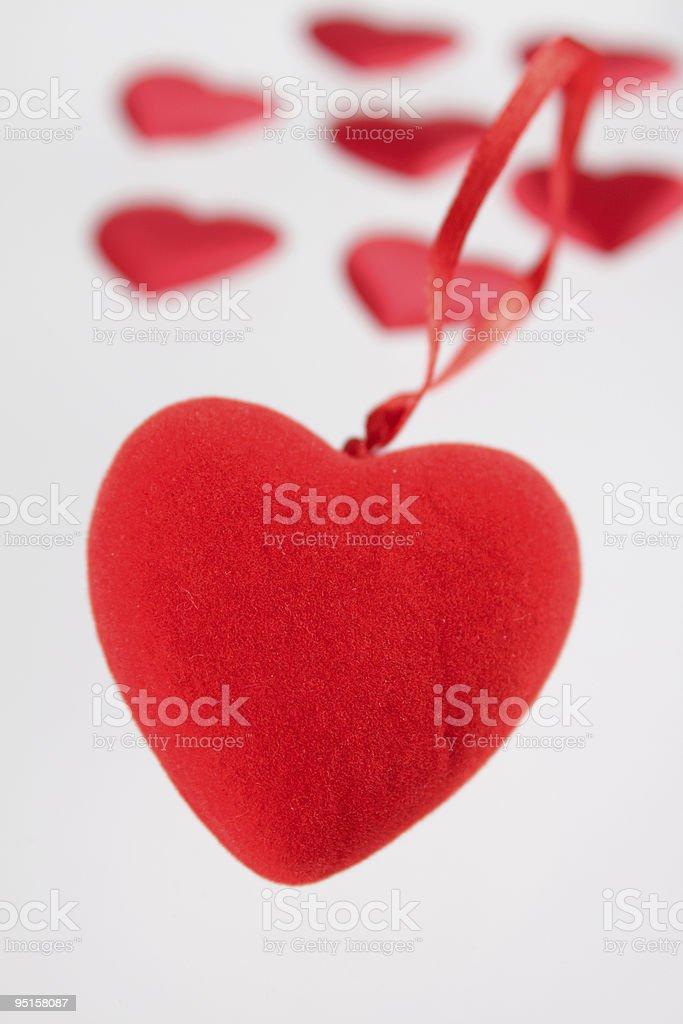 Pluszowe serce z małe serca zbiór zdjęć royalty-free