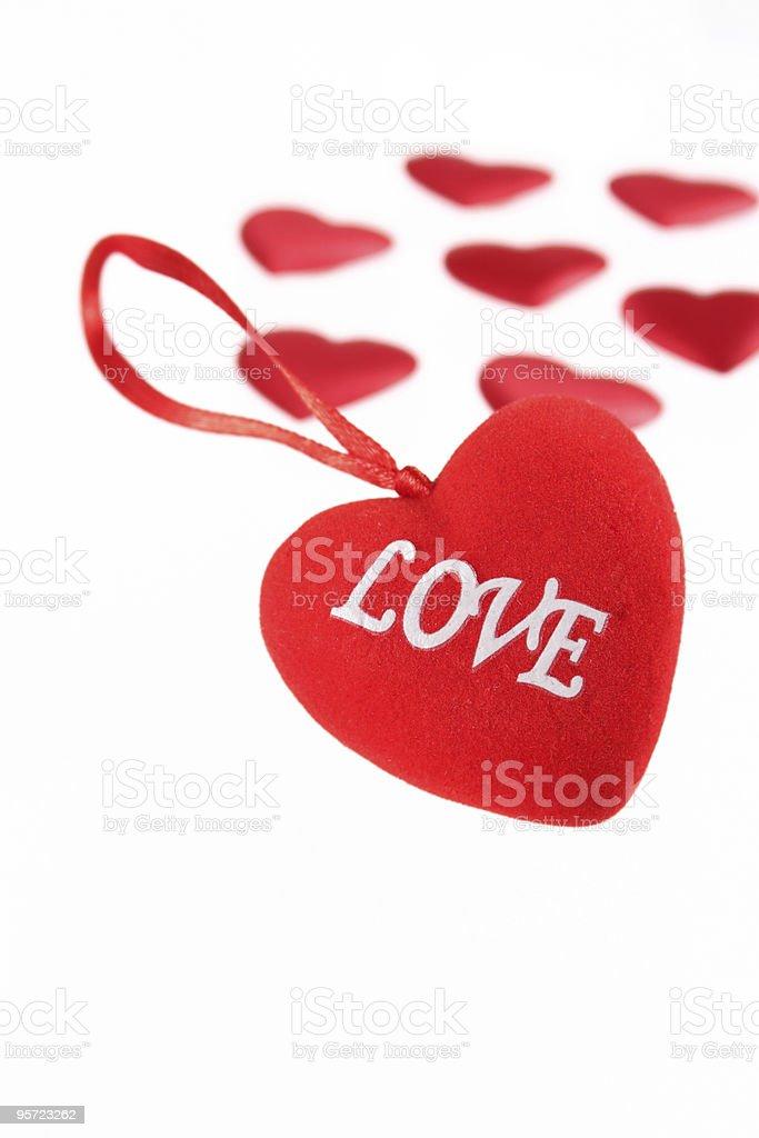 Pluszowe serce z napisem zbiór zdjęć royalty-free