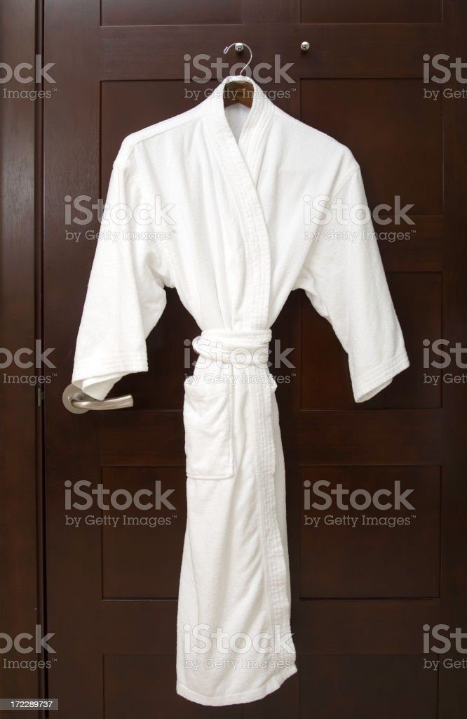 Plush Hotel Spa Robe stock photo