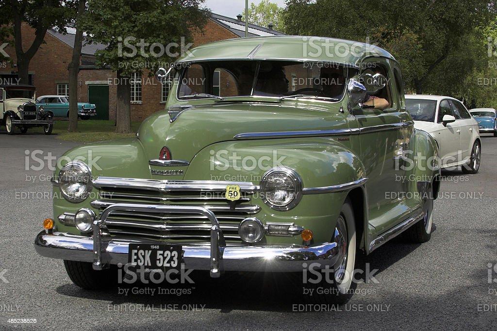Plymouth 4 door sedan classic car stock photo