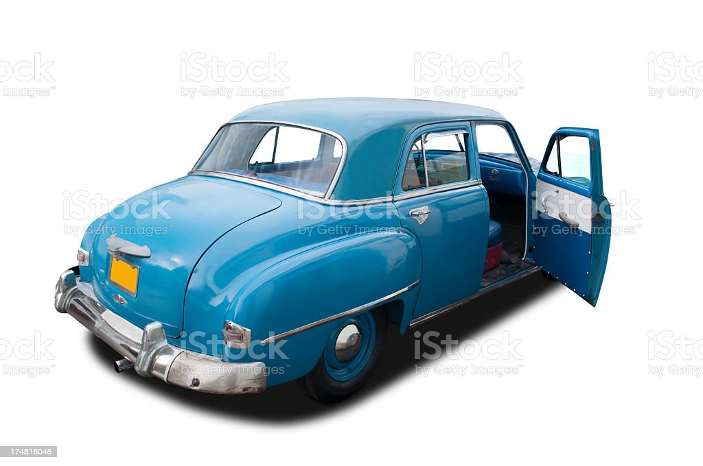 Plymouth Clipper 1950 blue royalty-free stock photo