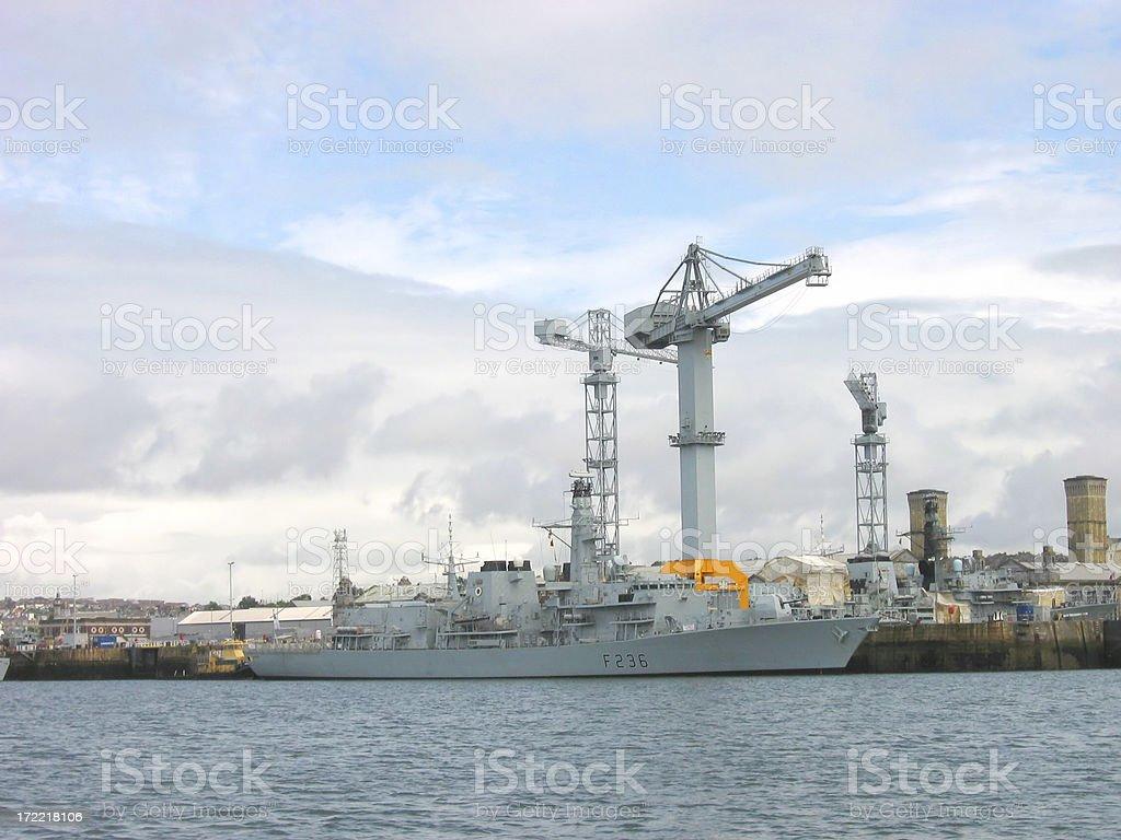 Plymouth Devonport Dockyard stock photo
