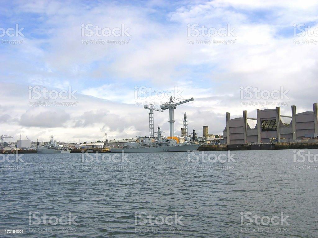 Plymouth Dockyard stock photo