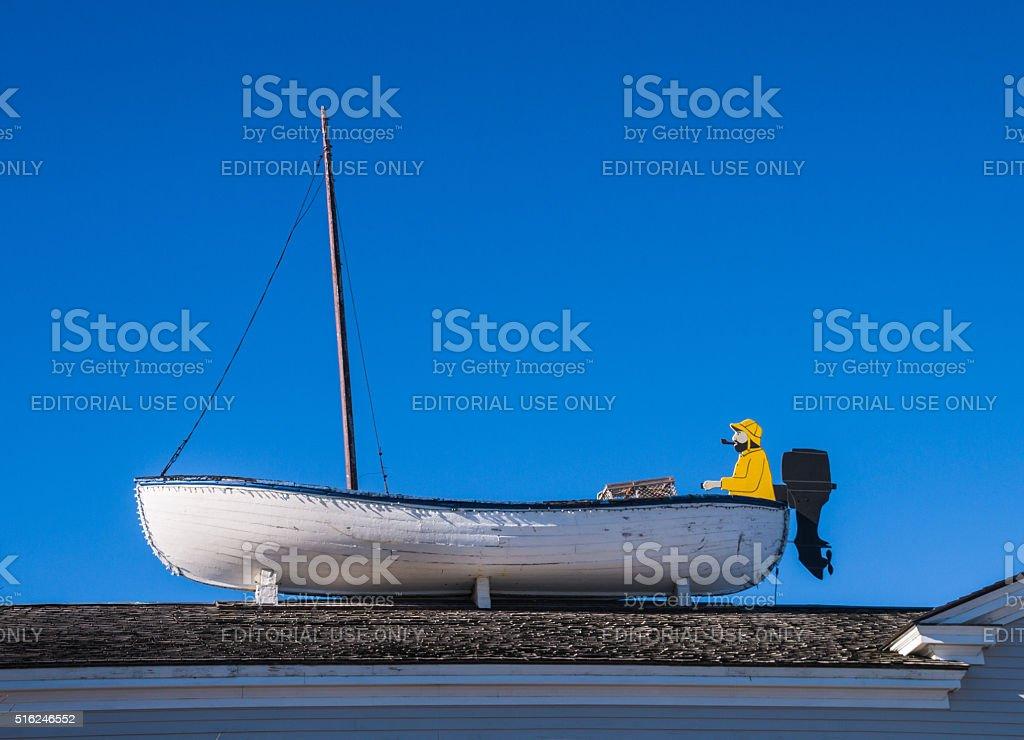 Plymouth Fisherman stock photo
