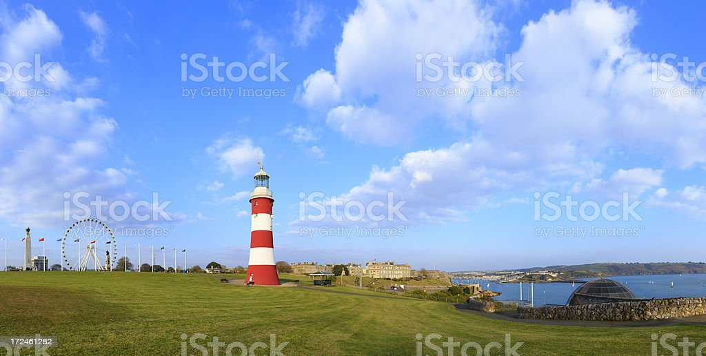 Plymouth Hoe royalty-free stock photo