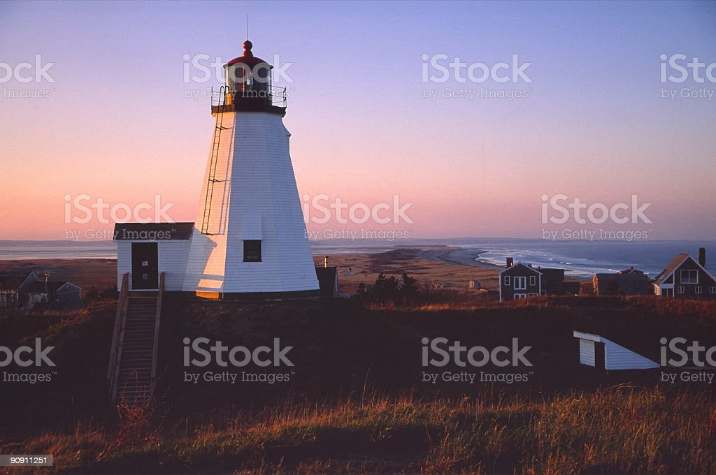 Plymouth Lighthouse stock photo