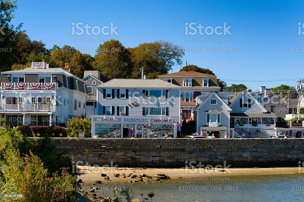 Plymouth Massachusetts on Cape Cod stock photo