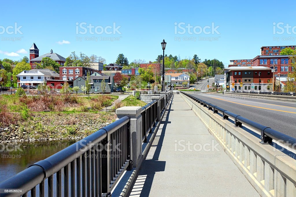 Plymouth New Hampshire stock photo